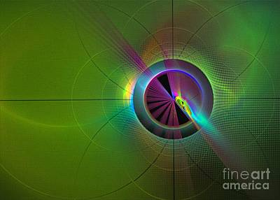 Digital Art - Theory Of Green - Abstract Art by Sipo Liimatainen