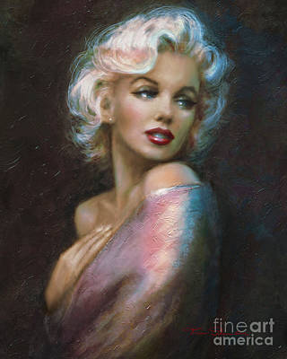 Painting - Theo's Marilyn Ww Blue by Theo Danella