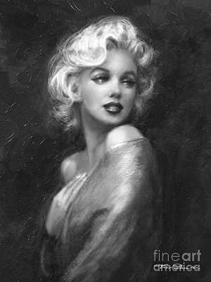 Painting - Theo's Marilyn Ww Bw by Theo Danella