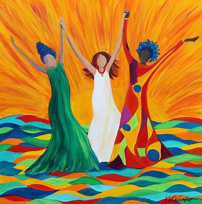 Multicultural Painting - The Power Of Hope by Kelly Simpson