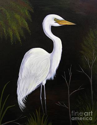 Painting - One Lone Egret by Valerie Carpenter