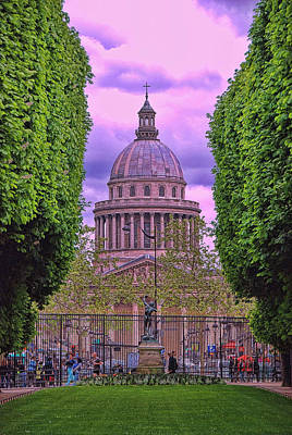Photograph - The Pantheon Paris by Allen Beatty