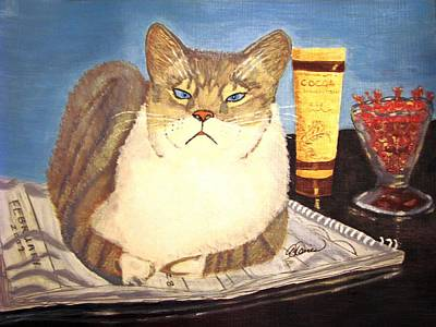 Painting - Therapy Cat by Angela Davies