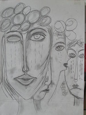 Drawing - There Are Hungry Children by Sharyn Winters