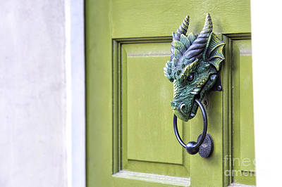 Entrance Door Photograph - There Be Dragons Inside by Tim Gainey