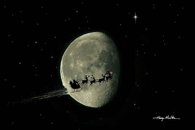 Photograph - There Goes Santa by Harry Moulton