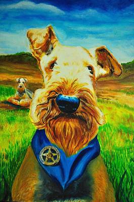 There Is A New Airedale In Town Original by Ruben Barbosa