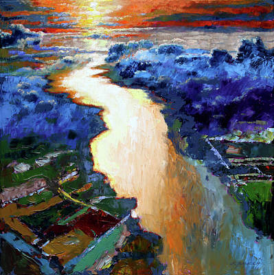 Painting - There Is A River That Flows From Deep Within by John Lautermilch