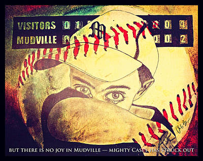 At Bat Mixed Media - There Is Crying In Baseball by Chris Grimm