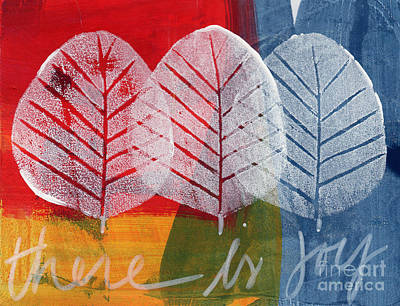 Leaf Painting - There Is Joy by Linda Woods