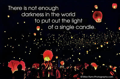 There Is Not Enough Darkness Art Print