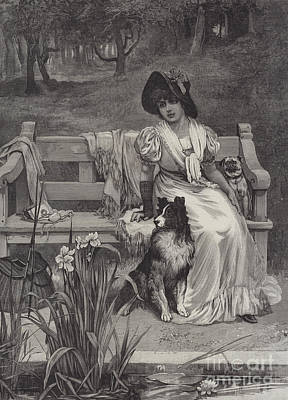Two Tailed Drawing - There Is Room For Two by Frederick Morgan