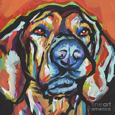 Dog Art Painting - There Must Be A Plott by Lea