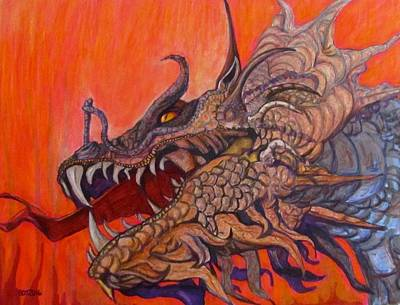 There Once Were Dragons Art Print by Barbara O'Toole
