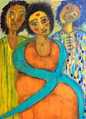 Painting - There Ought To Be Clowns by Brenda Robinson