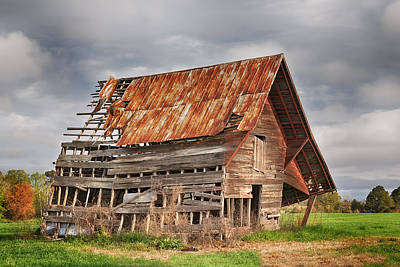 Photograph - There Was A Crooked Barn by Kim Hojnacki