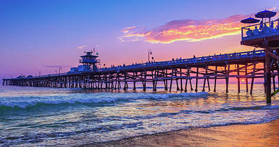 Photograph - There Will Be Another One - San Clemente Pier Sunset by Scott Campbell