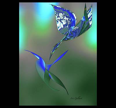 Digital Art - There Will Be Blue Birds Over by Iris Gelbart