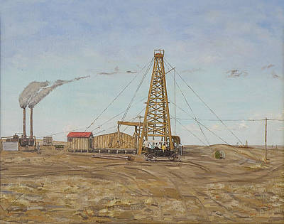 Oil Rig Painting - There Won't Be Blood by Galen Cox