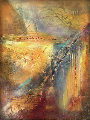 Wall Art - Mixed Media - There's A Crack In Everything by Jane Dill