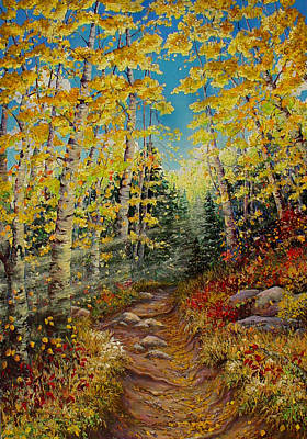 Painting - There's  A Light Beyond These Woods by Mary Giacomini