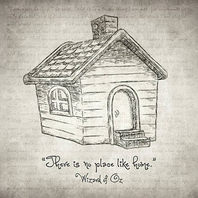 Fantasy Drawings - Theres no place like home by Zapista Zapista