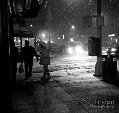 Photograph - Theres No Time Like Snow Time - Winter In New York by Miriam Danar