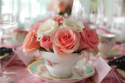 Photograph - Teacup Roses by Alison Frank