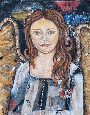 Christian Art . Devotional Art Painting - Theresa by Rain Ririn