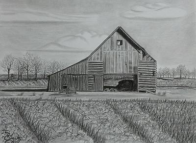 Drawing - Theresa's Barn by Tony Clark