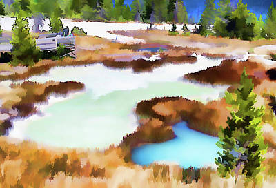 Thermal Pools, West Thumb Ynp Art Print