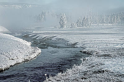Photograph - Thermal Steam By The River - Yellowstone by Stuart Litoff