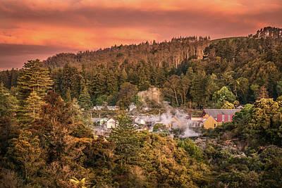 Thermal Village Rotorua Art Print