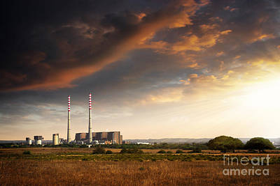 Turbines Photograph - Thermoelectrical Plant by Carlos Caetano