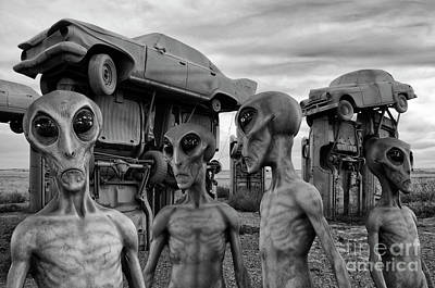 Photograph - Aliens And Ufo 8 by Bob Christopher