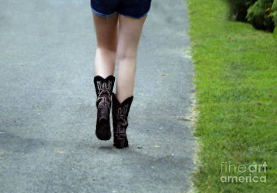 Sexy Photograph - These Boots Are Made For Walking by Steven Digman