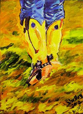Painting - These Boots by Shelley Bain
