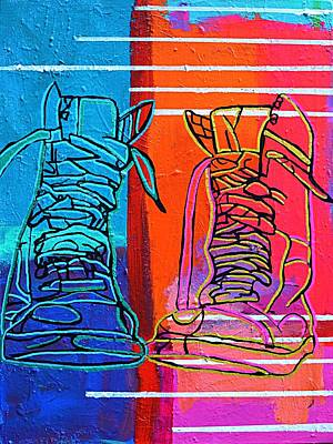 Painting - These Boots by Nicole Gavin