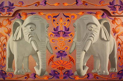 Painting - These Elephants Are Democrats by Amanda  Lynne