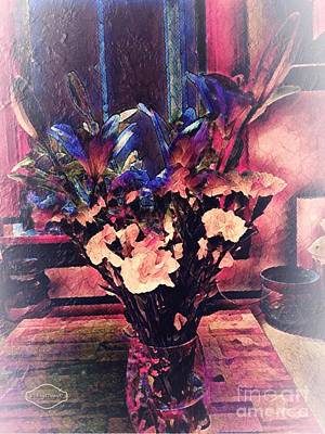 Mixed Media -  These Flowers Are  For You by MaryLee Parker