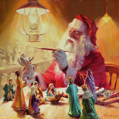 Santa Wall Art - Painting - These Gifts Are Better Than Toys by Steve Henderson