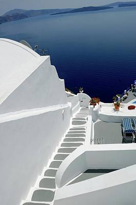 These Lovely White Steep Stairs Of Santorini.... Original