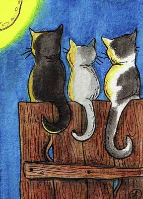 Night Out Painting - These Three by Julie McDoniel