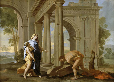 Nicolas Poussin Painting - Theseus Finds His Father's Sword by Nicolas Poussin