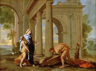 Wreck Painting - Theseus Finds The Sword Of His Father by Nicolas Poussin