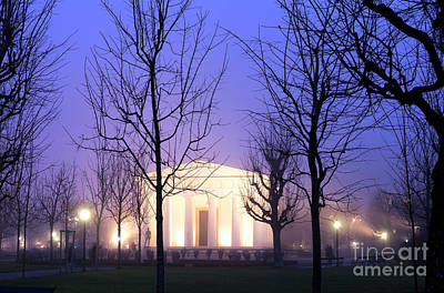 Photograph - Theseus Temple At Night by John Rizzuto