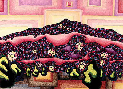 Mystical Landscape Mixed Media - Theta Frequency by Dale Beckman
