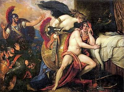 Painting - Thetis Brings The Armor Of Achilles by Benjamin West