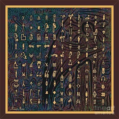 Theurgic Symbols Art Print