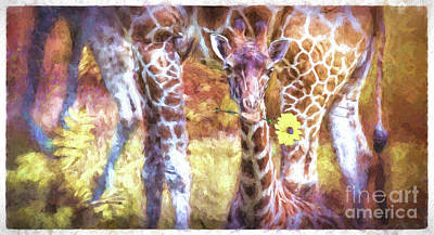 Digital Art - The Whimsical Giraffe  by Mary Lou Chmura